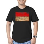 Monaco Flag Men's Fitted T-Shirt (dark)