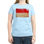 Monaco Flag Women's Light T-Shirt