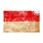 Monaco Flag 38.5 x 24.5 Wall Peel