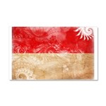 Monaco Flag Car Magnet 20 x 12