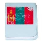 Mongolia Flag baby blanket