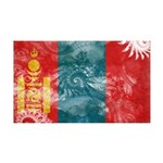 Mongolia Flag 38.5 x 24.5 Wall Peel