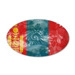 Mongolia Flag 38.5 x 24.5 Oval Wall Peel