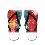 Mongolia Flag Flip Flops