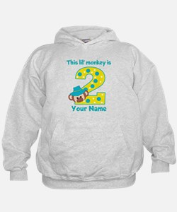 2nd Birthday Monkey Boy Hoodie