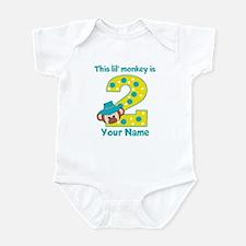 2nd Birthday Monkey Boy Infant Bodysuit