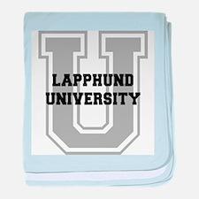 Lapphund UNIVERSITY baby blanket