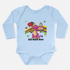 Cute personalized dinosaur bi Long Sleeve Infant B