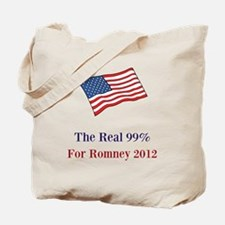 The Real 99% for Romney 2012 Tote Bag