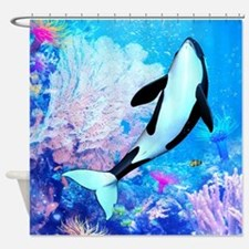 Orca 3 Shower Curtain