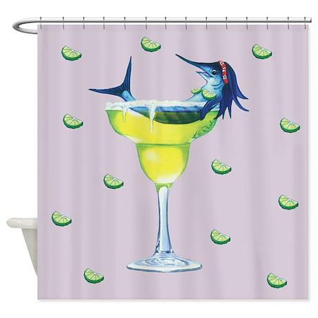 Margarita Trixie lavendar Shower Curtain