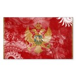 Montenegro Flag Sticker (Rectangle 10 pk)