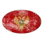 Montenegro Flag Sticker (Oval 10 pk)