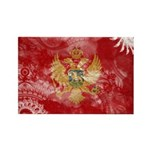 Montenegro Flag Rectangle Magnet (100 pack)
