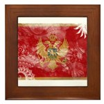 Montenegro Flag Framed Tile