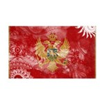Montenegro Flag 38.5 x 24.5 Wall Peel