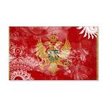 Montenegro Flag 22x14 Wall Peel