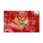 Montenegro Flag 22x14 Wall Peel