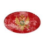 Montenegro Flag 22x14 Oval Wall Peel