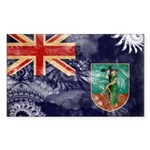Montserrat Flag Sticker (Rectangle 10 pk)