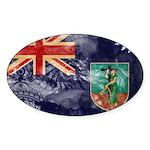 Montserrat Flag Sticker (Oval 50 pk)