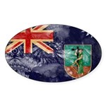 Montserrat Flag Sticker (Oval 10 pk)
