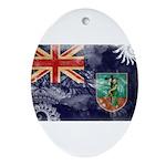 Montserrat Flag Ornament (Oval)