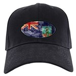 Montserrat Flag Black Cap