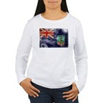 Montserrat Flag Women's Long Sleeve T-Shirt