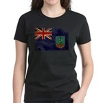 Montserrat Flag Women's Dark T-Shirt