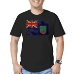 Montserrat Flag Men's Fitted T-Shirt (dark)