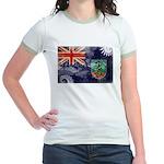 Montserrat Flag Jr. Ringer T-Shirt