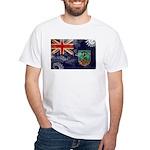 Montserrat Flag White T-Shirt
