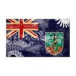 Montserrat Flag 38.5 x 24.5 Wall Peel