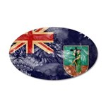 Montserrat Flag 38.5 x 24.5 Oval Wall Peel