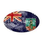 Montserrat Flag 22x14 Oval Wall Peel
