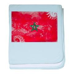 Morocco Flag baby blanket
