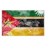 Mozambique Flag Sticker (Rectangle 10 pk)
