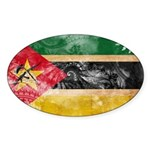 Mozambique Flag Sticker (Oval 10 pk)