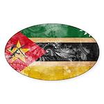 Mozambique Flag Sticker (Oval)