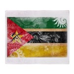 Mozambique Flag Throw Blanket