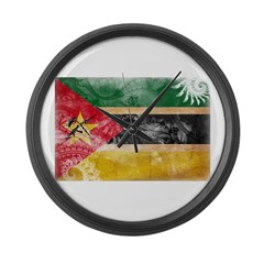 Mozambique Flag Large Wall Clock