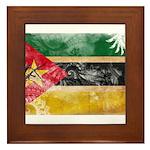 Mozambique Flag Framed Tile