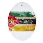 Mozambique Flag Ornament (Oval)