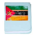 Mozambique Flag baby blanket