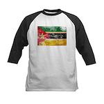 Mozambique Flag Kids Baseball Jersey