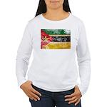 Mozambique Flag Women's Long Sleeve T-Shirt
