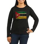 Mozambique Flag Women's Long Sleeve Dark T-Shirt