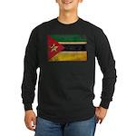 Mozambique Flag Long Sleeve Dark T-Shirt