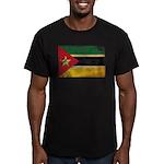 Mozambique Flag Men's Fitted T-Shirt (dark)